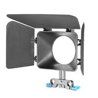 Neewer Black Plastic DSLR Matte Box for 15mm Rail Rod Suppot Focus Rig 60D 5DII