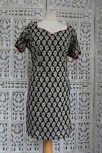 BlackIndian Bollywood dress Choli Tunic kameez sari blouse UK 18  EU 44 SKU17243