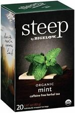 steep by Bigelow Organic Mint Caffeine-Free Herbal Tea,  20 Count