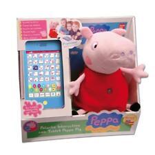 Peppa Cochon Peluche Interactive avec Tablette Bilingúe Prendre et Lettre Numéro