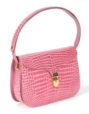 RAPHAEL Crocodile Alligator PINK  Lady Handbag Bag Duchess Exotic Leather Purse