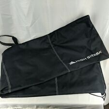 "High Sierra Snowboard Sleeve Bag Black Canvas Drawstring 62"" x 16"" w/ Handles"