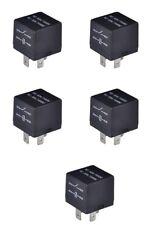 5 Pcs Bosch Style 4 PIN Blade Post Relays SPST 80 Ohm NO:40A/14VDC NC:30A/14VDC