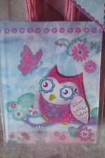 Punch Studio Set of 8 Glitter and Whimsical Owl Party Favor Treat Bags New Cute