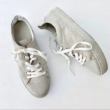 SCHUTZ Cashia Cru Natural Nude Canvas Slip-On Flat Handmade Sneaker