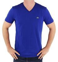 Lacoste Men's Sport Premium Pima Cotton V-Neck T-Shirt Blue size S