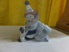 Lladro figurine - clown with ball and dog - 5278
