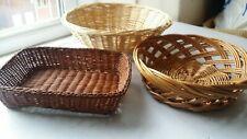 Wicker baskets x 3 - set of 3