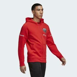 Adidas MLS D.C. United Red Travel Jacket Red/Black CF0033