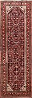 Vintage Geometric Traditional Runner Rug Wool Hand-knotted Oriental Carpet 4x10