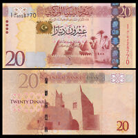 Libya Lybien, 20 Dinars Banknote, ND (2013), P-79 , First Prefix, UNC