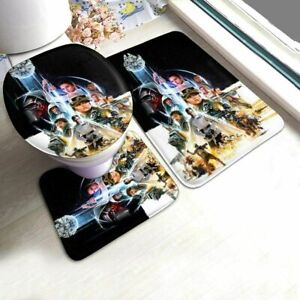 Star Wars Bathroom Bath Rug Set Non-Slip Toilet Lid Cover Contour Mats 3PCS