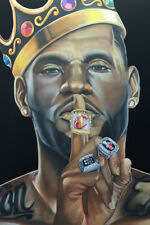 Lebron James Rings Art Wall Indoor Room Outdoor Poster - POSTER 24x36