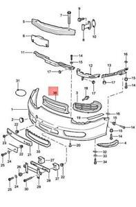 Genuine PORSCHE Boxster 986 Retaining Frame Satin black 9865055550001C