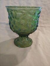 Vintage ~E.O. Brody Co.~Medium Sized Round Green Glass Vase/Candle Holder/Bowl ~