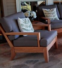 Atnas A-Grade Teak Wood Deep Seater Sofa Lounge Chair Outdoor Patio New