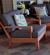 Atnas A-Grade Teak Wood Deep Seater Sofa Lounge Chair Outdoor Patio New