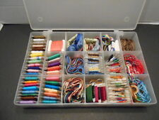 85 Bobbins Embroidery Floss in a Floss Case-Cross Stitch Thread Case