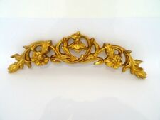 Fregio frontino sovraporta in resina foglia oro barocco 75 cm