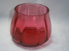 ANTIQUE RUBY / CRANBERRY GLASS SUGAR BOWL OR VASE.