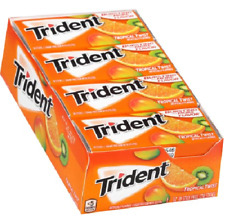 Trident Tropical Twist Sugar Free Gum with Xylitol, 14 count, (Pack of 12)