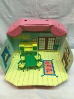 Barbie Tote and Play Doll House With Furniture, Table Chairs Kitchen Cabinets
