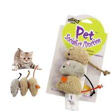 3Pcs Cute Pet Cat Toys Fur False Plush Fake Mouse Kitten Cat Bite Playing Toys