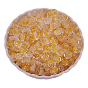 200PCS 7MM Mixed Letter Acrylic Beads Round Loose Alphabet Beads Diy Handmade