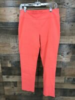 Zac & Rachel Women's Coral Flat Front Pull On Pants Size 10