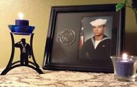 ~ U.S. Navy Dress Blues Sailor Candle ~ To honor your hero and Navy Tradition! ~