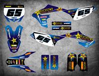 Custom graphics for Yamaha YZ 65 WARP STYLE full sticker kit decals / graphics