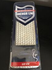ATTWOOD 3 STRAND PREMIUM ANCHOR LINE WITH HOOK TWISTED NYLON NEW IN BOX