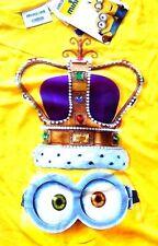 NEW! Minions Movie Minion King BOB! T Tee Shirt Top Yellow Crown Stitched Google
