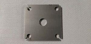 120 x 120 x 8 mm, Fußplatte, Bodenplatte, Pfostenträger, Ankerplatte Stahl S235