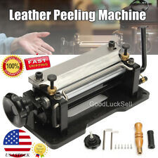 """6"""" DIY Leather Skiver Peeler Splitter Shovel Skin Skiving Paring Peeling Machine"""