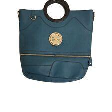 Women Handbag Messenger Shoulder Bag Purse Canvas Satchel Bag Tote Green Zipper