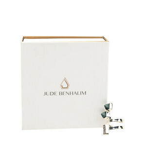 JUDE BENHALIM 925Ag Silver Ring Size UK L HANDCRAFTED Calligraphy Resin Spike