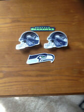NFL Seattle Seahawks Sport Logo 4 pc fabric iron on patch set