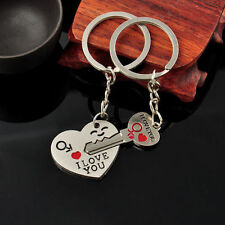 Anniversary Birthday Christmas gift I LOVE YOU double keyring partners & lovers