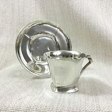 More details for sue et mare christofle silver plated teacup and saucer french art deco cubist