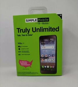 Simple Mobile TCL LX A502 LTE Prepaid Cell Phone Smartphone Brand New Sealed