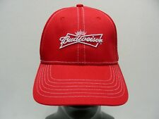 BUDWEISER - RED - ONE SIZE ADJUSTABLE BALL CAP HAT!