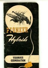 Pioneer Hybrids Reference & Ad Booklet,1958 , Coon Rapids, IA.  2.5 x 5.25    Y5