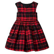 Mia & Mimi Little Girls Dress Plaid Red Black Fancy Dress Princess 12M