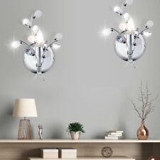 Jeu de 2 Ensemble Led Cristal Décor Lampe Murale Fleurs Design