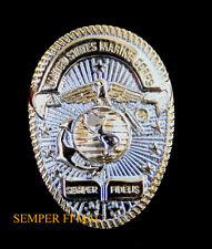 US MARINES OVAL BADGE HAT PIN EGA SEMPER FIDELIS USMC OFFICER ENLISTED GIFT WOW