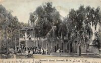 D42/ Roswell New Mexico NM Postcard 1912 Roswell Hotel Crowd