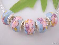 30pcs flower Ceramics Beads Fits Charm Bracelet T09