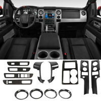 Full set Interior Decor Trim Kit Cover For Ford F150 Raptor 09-14 Carbon Fiber
