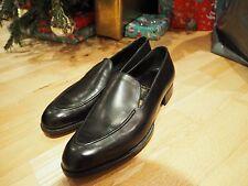Nouveau £ 4000!!! BESPOKE John Lobb Ltd en Cuir Noir Mocassins Chaussures Bottes UK7 US8 41